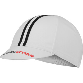 Castelli Rosso Corsa Cycling Cap white/black